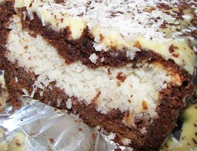 Торт с кокосовой стружкой торты